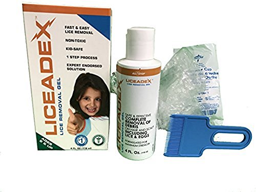Liceadex Head Lice Treatment for Nit & Egg Removal Gel 4 - Permethrin Head Lice