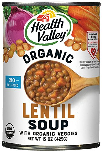 Health Valley Organic No Salt Added Soup Lentil 15 Ounce