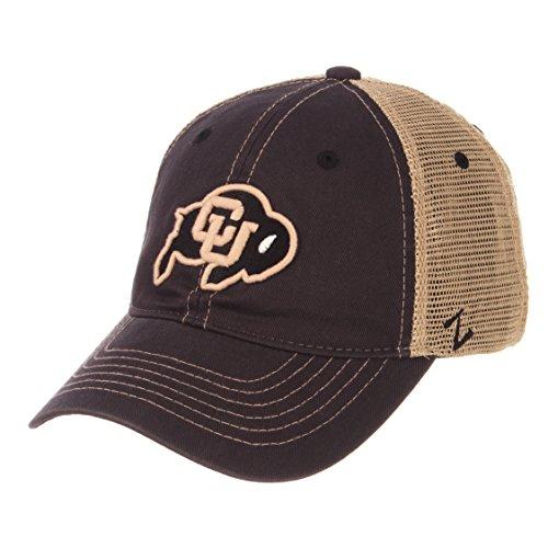 ZHATS NCAA Colorado Buffaloes Men's Institution Relaxed Cap, Adjustable, Charcoal (Colorado Buffaloes Baseball)