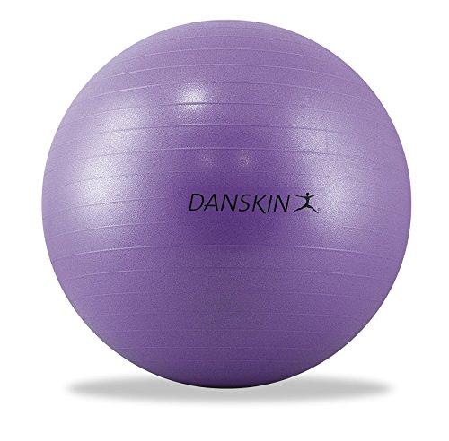 Danskin Core Ball with Pump/DVD, 65mm, Purple