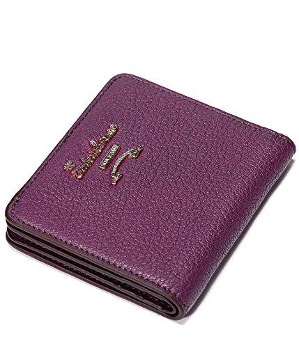 (EMINI HOUSE Classic Women Wallet Sheepskin Bifold Wallets for Women Purse-Purple)
