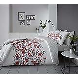 Rosa Blau Rosen Blumen Baumwollmischung Einzelne Wendbare 2-tlg Bettwäsche Set