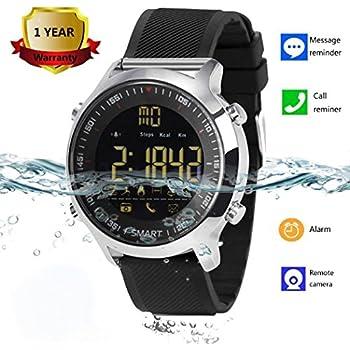 Amazon.com: Smart Watch Bluetooth Smartwatch with Camera ...