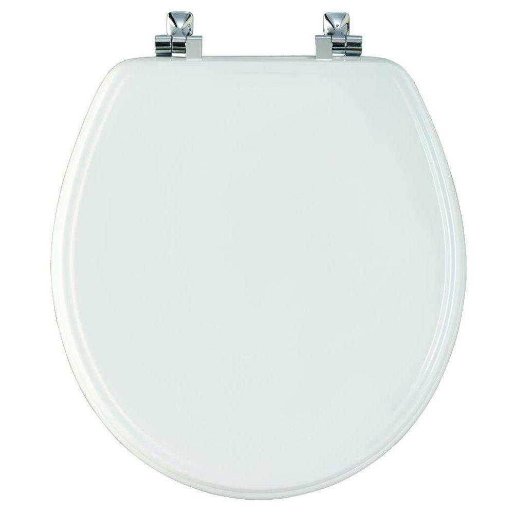 Miraculous Sta Tite Round Closed Front Toilet Seat In White Theyellowbook Wood Chair Design Ideas Theyellowbookinfo