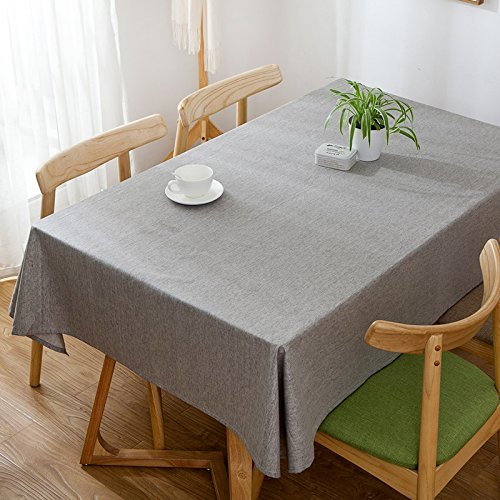 HOMEE Simple art waterproof cloth table cloth pure color pure cotton table cloth Christmas decorations,A,100X160cm by HOMEE