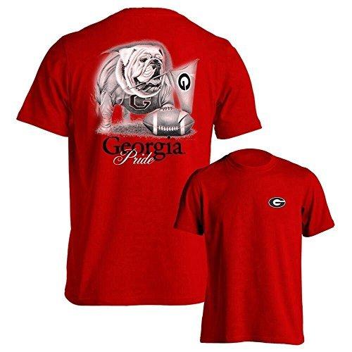 University of Georgia UGA Pride Red T-Shirt Multiple Sizes & Styles (M, Short)