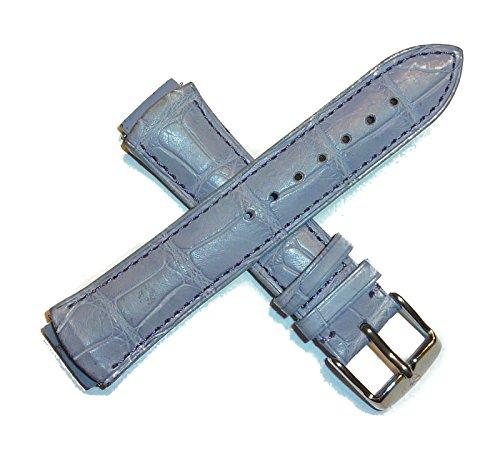 TechnoMarine 1134 17MM Genuine Alligator Leather Watch Strap Lavender w/Logo Stainless Buckle ()