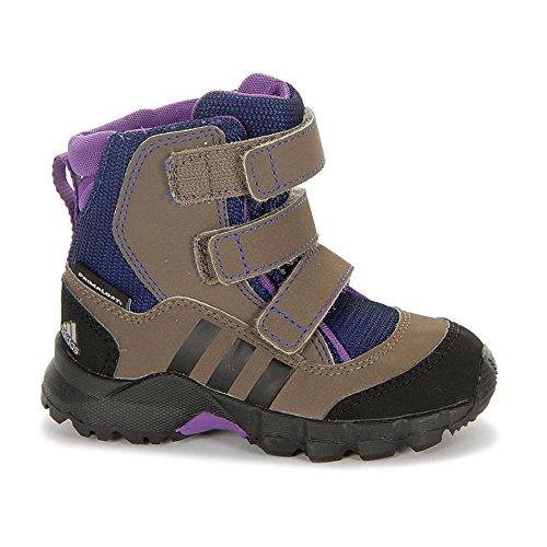 Adidas Holtanna Snow CF PL I Stiefel grey blend-ray purple-black - 25