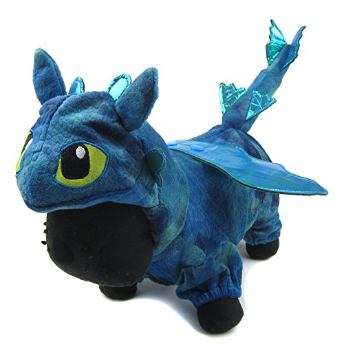 Alfie Pet - Night Fury Dragon Costume - Color: Blue, Size: Large