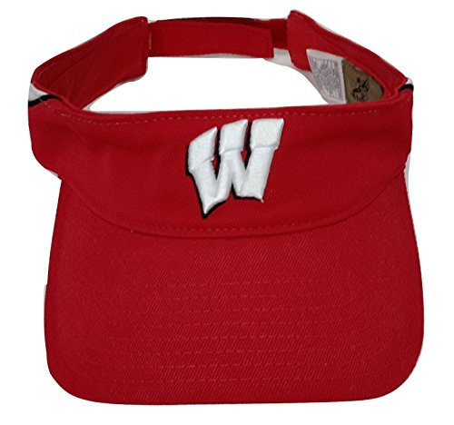 NCAA Reebok - Wisconsin Badgers Heisman Football Red Adjustable Visor - Football Reebok Hat