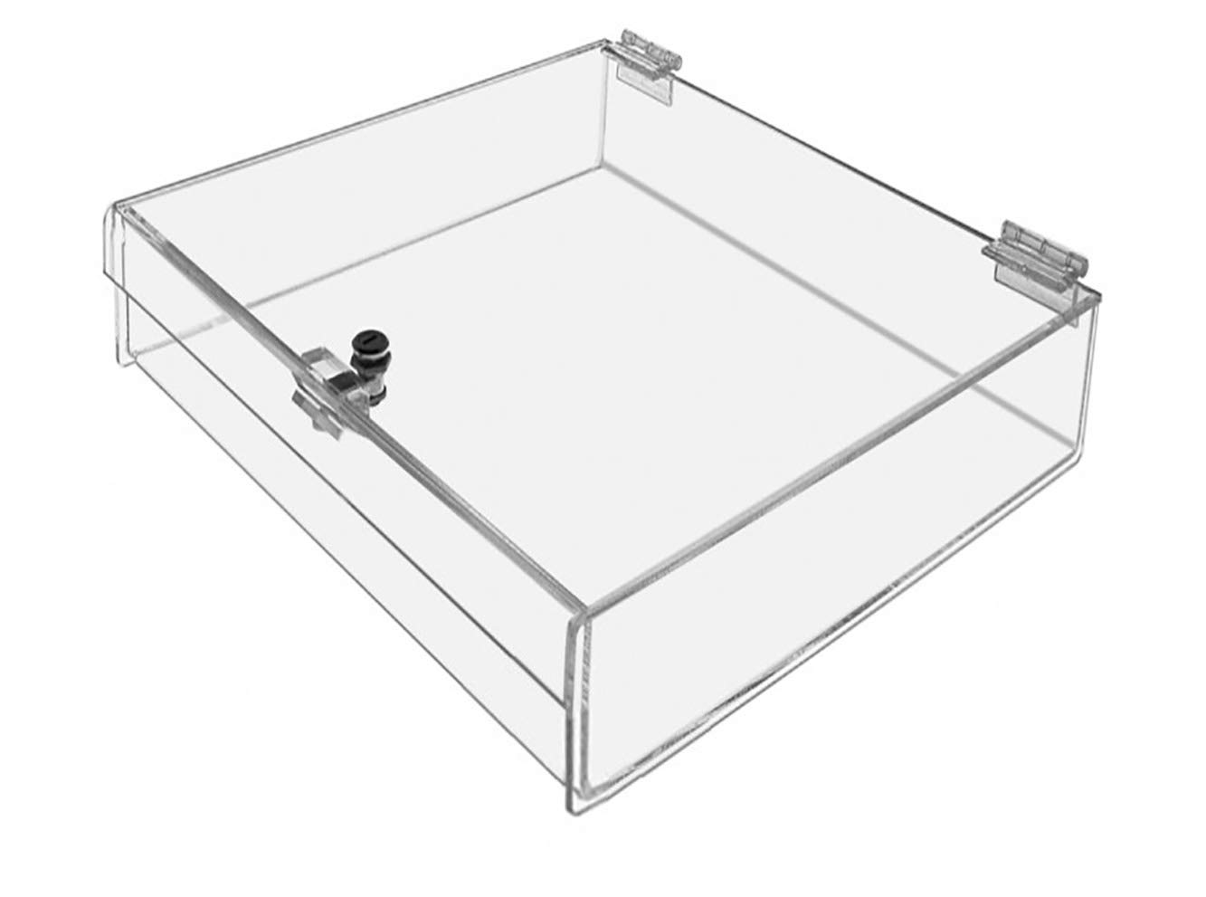 Marketing Holders Locking Case Security Show Safe Box Display Lucite Clear 24 w x 24 d x 3 h Qty 1