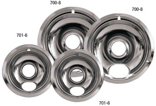 Stanco Universal Electric Range Chrome Reflector Bowls by Stanco -
