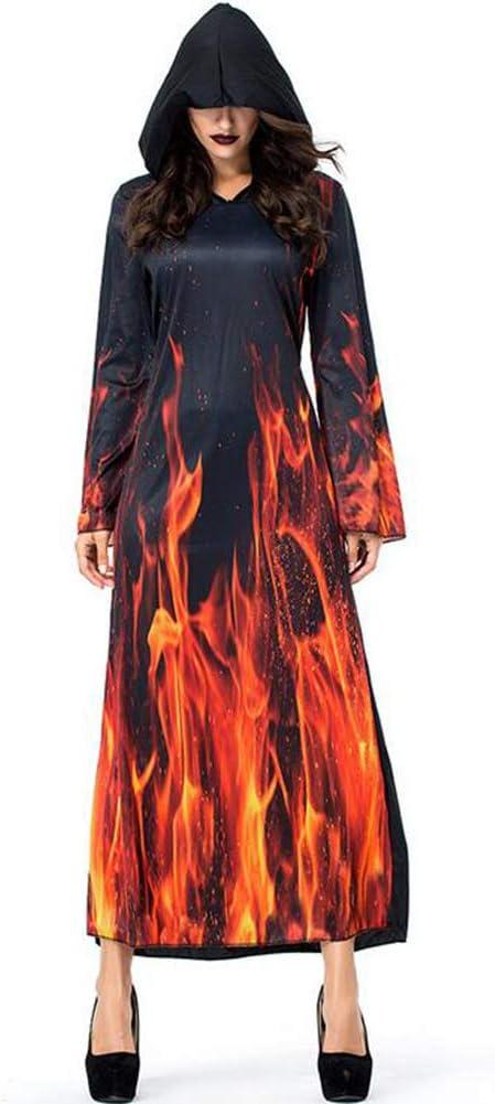 CYYMY Cosplay Disfraz de Infierno Llama Diablo Bruja para Mujer ...