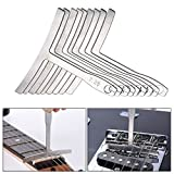 Andoer 9pcs/set Understring Stainless Steel Fretboard Radius Gauge Luthier Tools for Guitar Bass Setup Bridge Saddle Adjustment