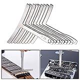Andoer 9pcs/set Understring Stainless Steel Fretboard Radius Gauge Luthier Tools for Guitar Bass Setup Bridge Saddle Adjustment