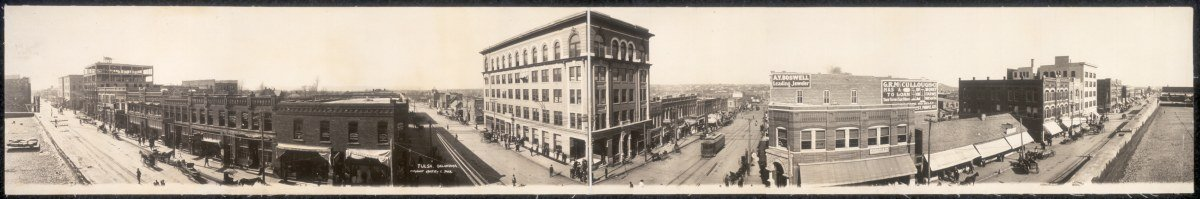 c1909 Tulsa, Oklahoma 48'' Vintage Panorama photo