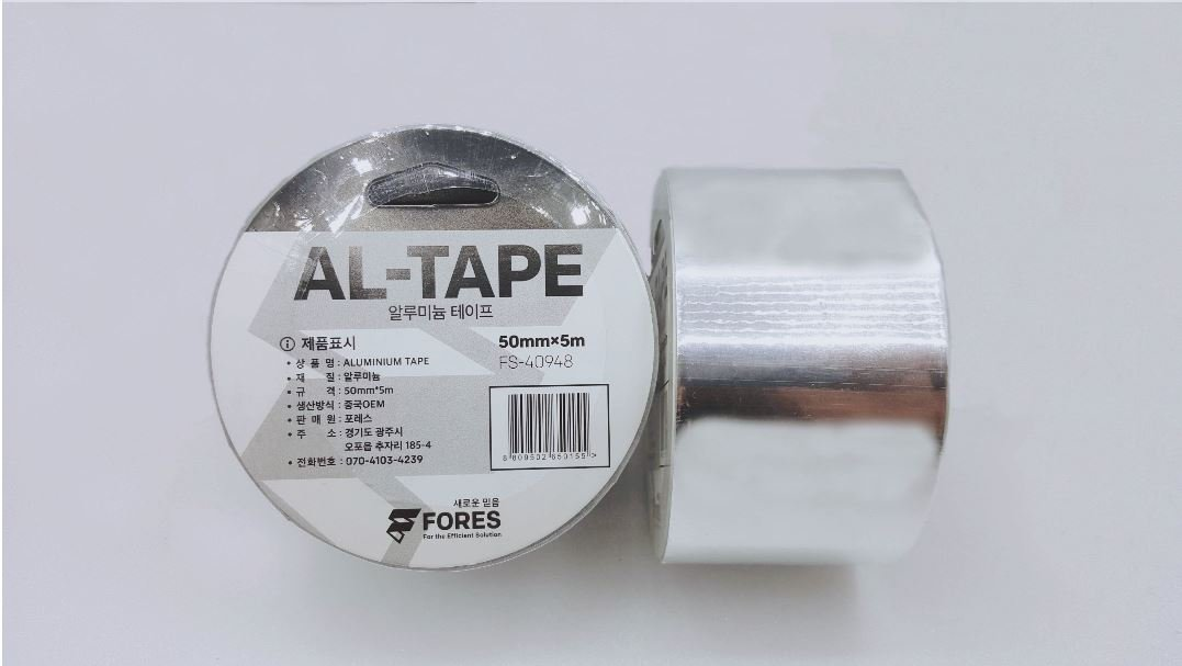 Fores Professional Aluminum Foil Tape, 2 inches x 5.5 Yards per Roll (5Rolls) HVAC Tape