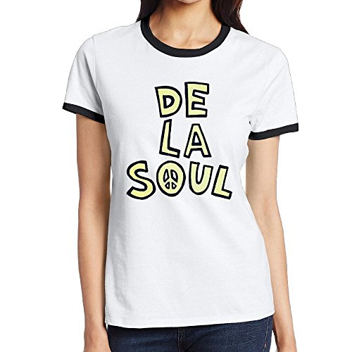 Woman De La Soul Plug Tunin 3 Feet High And Rising Contrast Color Shirts
