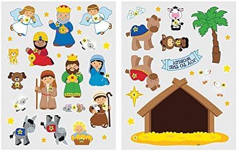 [해외]Fun Express - Advent Calendar Wall Cling for Christmas - Party Decor - Wall Decor - Wall & Window Clings - Christmas - 25 Pieces / Fun Express - Advent Calendar Wall Cling for Christmas - Party Decor - Wall Decor - Wall & Window Cl...