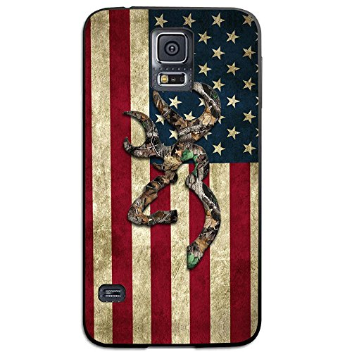 Browning Deer Camo American Flag for SamSung Galaxy Case (Samsung Galaxy S5 black)