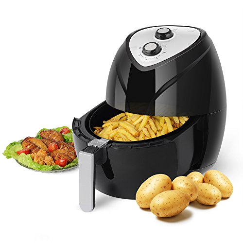 Air Fryer, PERSHOW 3.7-Quart,Dishwasher Safe,6 Cook Prests, Comes with Recipes CookBook,Nutritious Food with No Oil