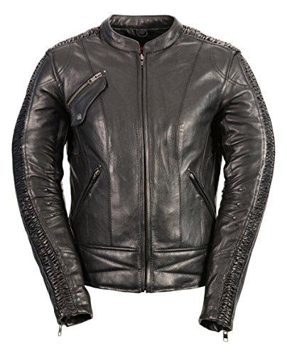 Milwaukee Leather Women's Embossed Phoenix Jacket (Black, Medium)
