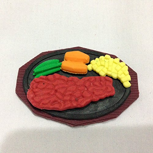 Meat Steak for Children's Erasers Miniature Dollhouse Accessories