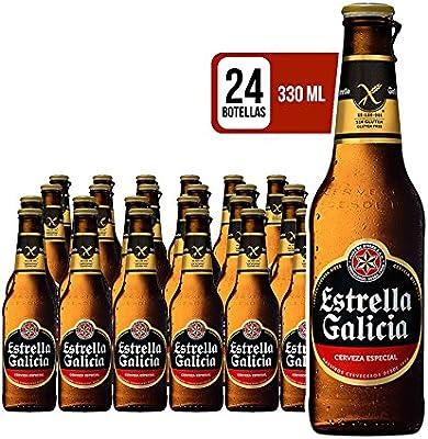 Estrella Galicia Cerveza Sin Gluten - Pack de 24 botellas x 330 ml - Total: 7.92 L: Amazon.es: Alimentación y bebidas