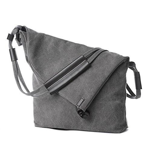 Handbags Bags Satchel Messenger Unisex Bag Crossbody Bekilole Canvas Hobo Shoulder Gray w7zIWqZn