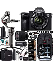 Sony a7 III Full-Frame Alpha Mirrorless Digital Camera a7III + 28-70mm Lens ILCE-7M3/K Filmmaker's Kit with DJI RS 2 Gimbal 3-Axis Handheld Stabilizer Bundle + Deco Photo Backpack + Software photo