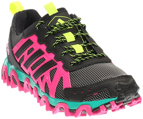 adidas Women's Incision Trail Black/Shock Pink/Yellow Athletic Shoe