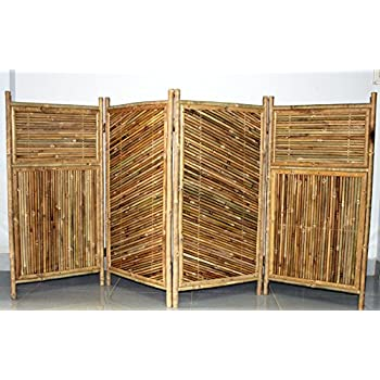 Master Garden Products Galvanized 4 Panel Bamboo Screen Enclosure, 24 By  48 Inch