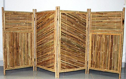 Master Garden Products Galvanized 4-Panel Bamboo Screen Enclosure, 24 by 48-Inch by Master Garden Products
