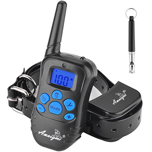 Awaiymi Dog Training Collar with Remote Range of 1000ft 2018 Upgraded Rechargeable Waterproof Shock Collar for Small Medium Large Dogs 6.6lbs-120lbs by Awaiymi