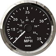 Pactrade Marine Kus Boat Hour Speedometer Gauge 0-35MPH 0-55KMH Backlight 12V