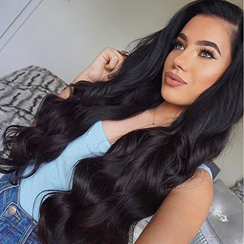 ZigZag Hair 360 Lace Frontal Wig Brazilian Virgin Human Hair Wigs For Black Women 180% Density 360 Lace Wig Pre Plucked Full Lace Wig With Baby Hair