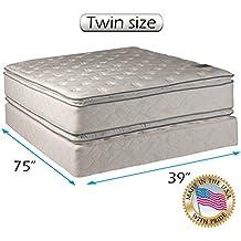 Princess Dream Plush Pillow Top Twin Size Mattress and Box Spring Set