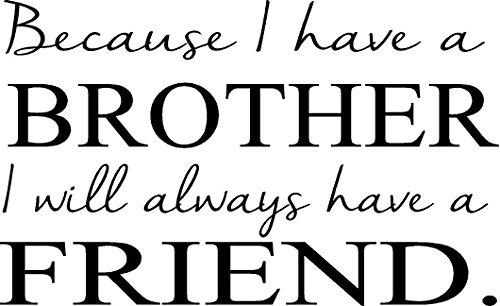 (CreativeSignsnDesigns Brother .have a Friend- boys bedroom vinyl wall decal (dark blue, 20