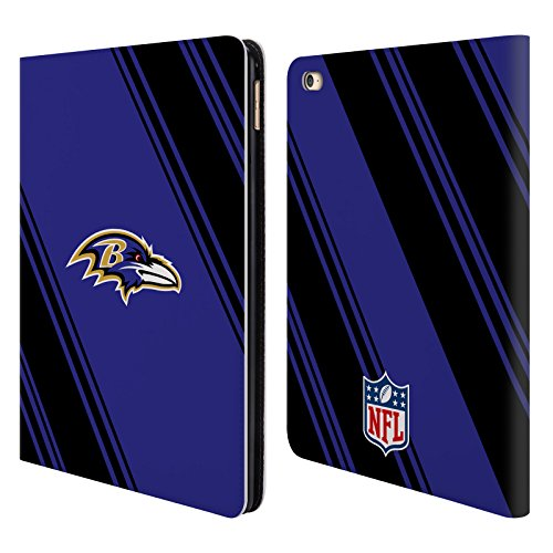 - Official NFL Stripes 2017/18 Baltimore Ravens Leather Book Wallet Case Cover for iPad Air 2 (2014)