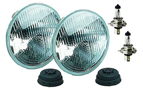 Hella Xenon Headlights - HELLA 002395801 Vision Plus 165mm 12V High/Low Beam Halogen Conversion Headlamp Kit (H4 ECE)