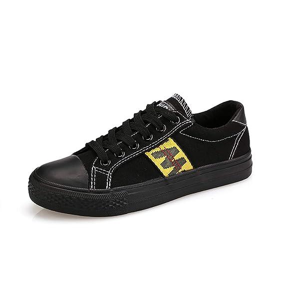 SPCK Lona de las mujeres bajo-Top zapatilla casual con cordones de moda cómodo para caminar,Black,37: Amazon.es: Ropa y accesorios