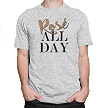 Rose All Day Mens Tank-Top Good Vibes Only No Bad Days T-shirt White, Grey S-3XL