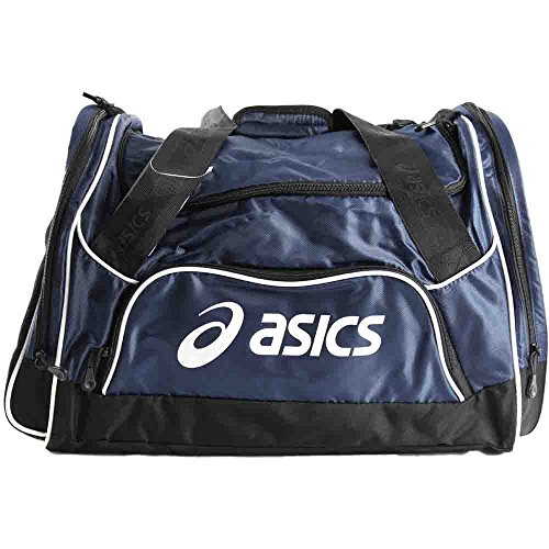 961156eceb Galleon - ASICS Edge Medium Duffle Bag, Navy, One Size