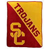 The Northwest Company NCAA Collegiate Half Tone Super Soft Plush Throw Blanket 46' x 60' (Southern California Trojans)