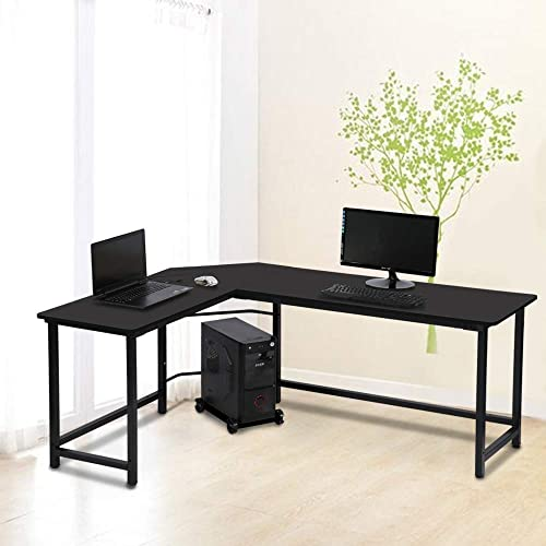 L-Shaped Computer Desk Modern Home Office Gaming Desk Corner Desk PC Laptop Standing Desk Table Study Writing Workstation