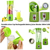 KERWA USB Peronal Portable Blender Bottle Juicer, Personal Size Rechargeable Juice Blender and Mixer, 380Ml