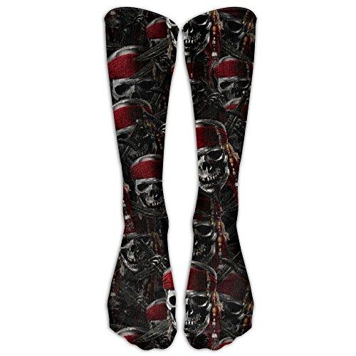 Zaqxsw Funny Pirates Mens Socks Dress Tube Boot Socks Look Knee High Pirate Boots