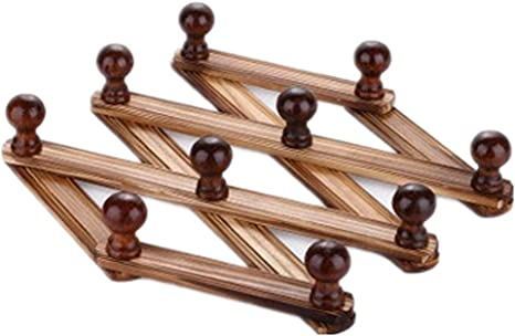 Amazon.com: Moyishi - Perchero de madera con 10 ganchos para ...