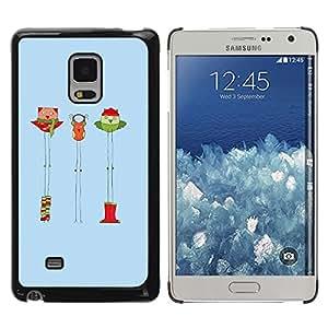 iKiki Tech / Estuche rígido - Christmas Winter Funny Cartoon - Samsung Galaxy Mega 5.8 9150 9152
