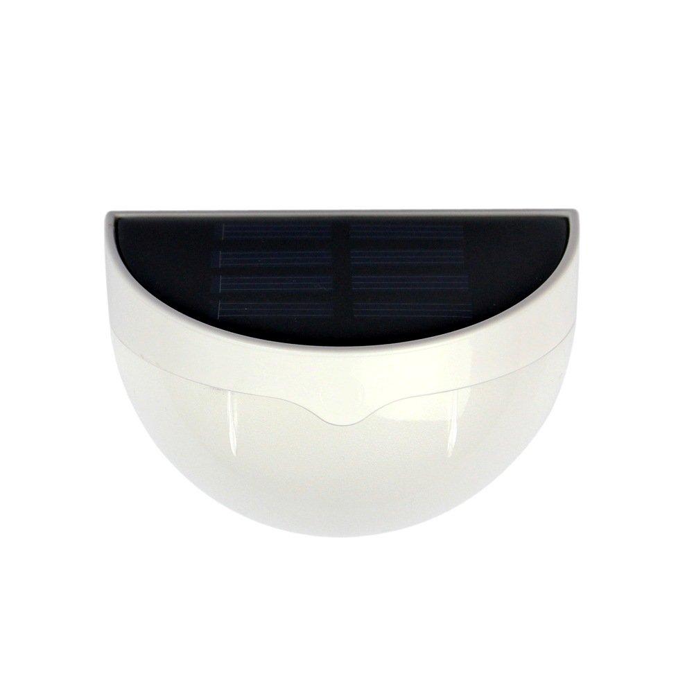 Businda Solar Semicircle Light, Controlled Wall Lamp Solar Wall Lamp Outdoor Waterproof Solar Garden Lamp Solar Light(Warm-White)